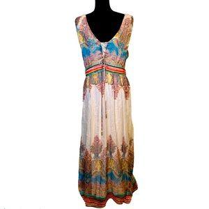 Alberto Makali Boho Long Maxi Dress size 16